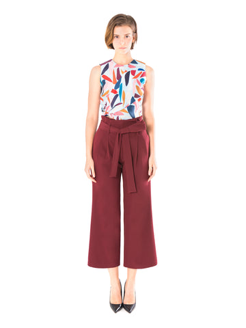 Double Pleated Paperbag Trousers