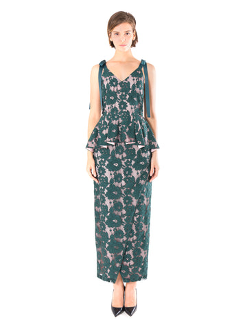 Gladiola Peplum Maxi Dress