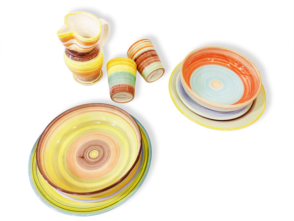Ceramic table set for 2 -9 pieces - E-gall