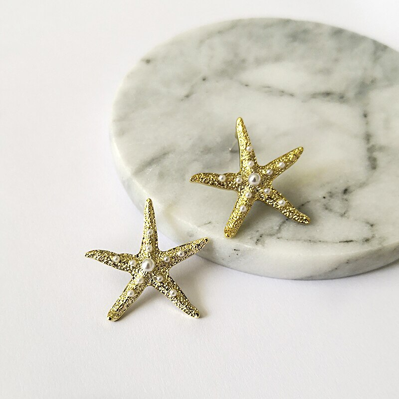 Pearl Starfish Earrings