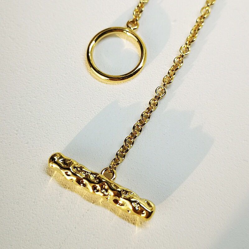 Hammered Toggle Clasp Necklace