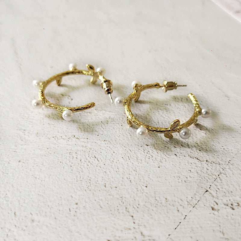 Mini Pearl Hoop Earrings