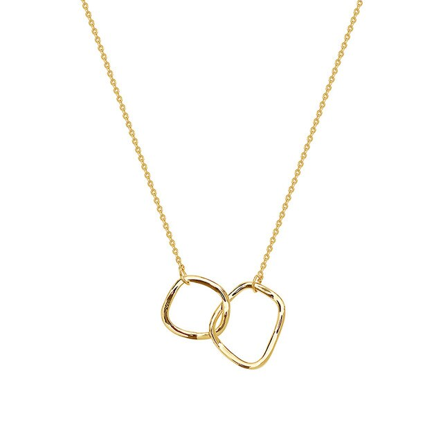 Linked Double Circle Necklace