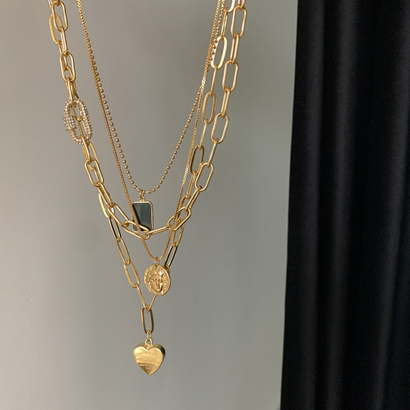 Four-Layered Gold Necklace