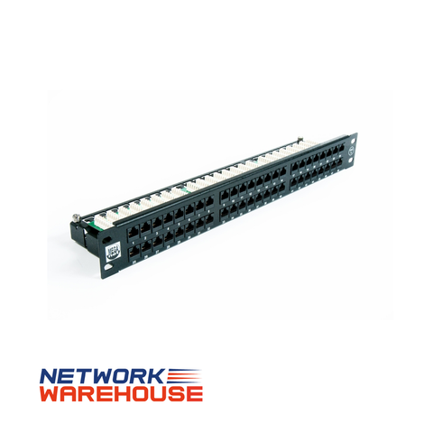 48 Port Cat6 Easy Punch UTP 1U Patch Panel - Network Warehouse