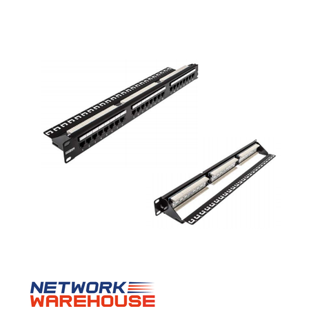 24 Port Cat5e UTP 1U Patch Panel - Network Warehouse