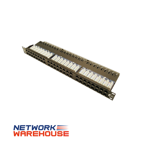 48 Port Cat5e Easy Punch UTP 1U Patch Panel - Network Warehouse