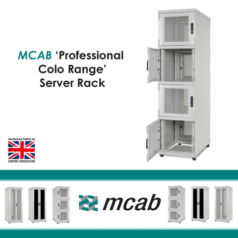 MCAB Pro Dual Section Colo Cabinet 1500Kg Rated (Vented Mesh Doors) - Network Warehouse