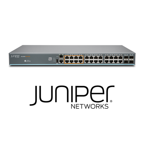 Juniper EX2300-24MP Switch | 16 x 1G Ports + 8 x 1G/2.5G Copper Ports | 30W PoE - Network Warehouse
