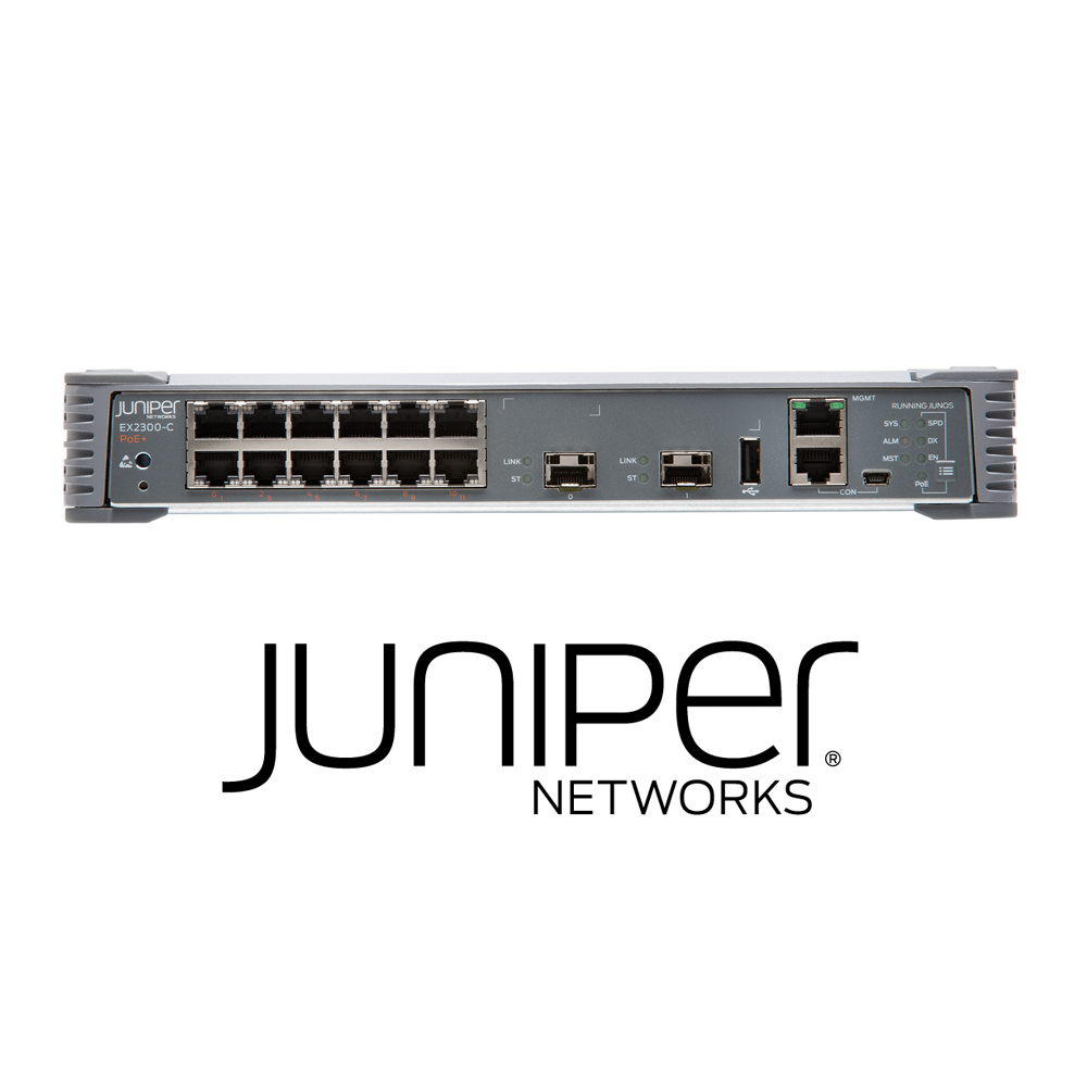 Juniper EX2300-C-12T Compact Fanless Switch | 12 x 10/100/1000Base-T | 2 x 1/10G SFP/SFP+ (Optics Sold Separately) - Network Warehouse