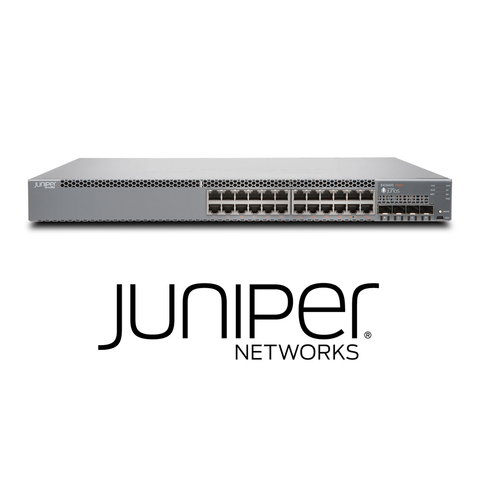 Juniper EX3400-24P Switch | 24 x 10/100/1000 BaseT PoE+ | 4 x 1/10G SFP/SFP+ | 2 x 40GB QSFP+ | Redundant Fans | 1 PSU Included (Optics Sold Separately) - Network Warehouse