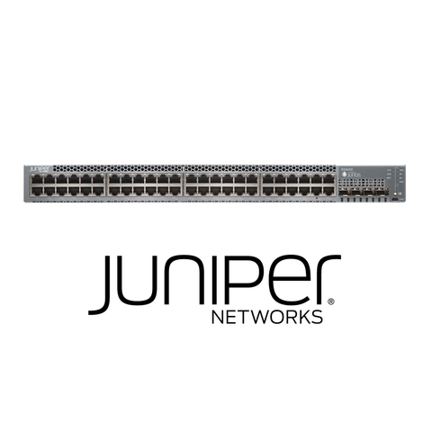 Juniper EX3400-48P Switch | 48 x 10/100/1000 BaseT PoE+ | 4 x 1/10G SFP/SFP+ | 2 x 40GB QSFP+ | Redundant Fans | 1 PSU Included (Optics Sold Separately) - Network Warehouse