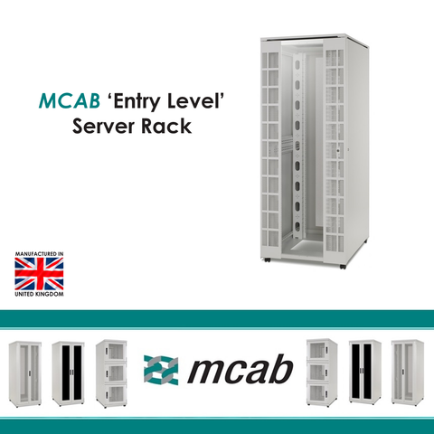 MCAB Entry Level Server Cabinet 600Kg Rated (Vented Mesh Doors) - Network Warehouse