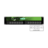 iPower - 2U 14 Outlet 12xC13 and 2xC19 16A Neutrik - 16Amp IND 309, Horizontal PDU | IPL-002-IP1-0F-3B - Network Warehouse