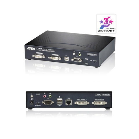 Aten KA6940T | USB DVI-I Dual Display KVM Over IP Transmitter - Network Warehouse