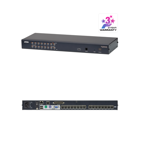 Aten KH1516Ai | 1-Local/Remote Share Access 16-Port Multi-Interface Cat 5 KVM over IP Switch - Network Warehouse