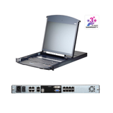 Aten KL1108VN | 1-Local/1-Remote Access 8-Port Multi-Interface Cat 5 Dual Rail LCD KVM over IP Switch - Network Warehouse