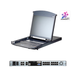 Aten KL1116VN | 1-Local/1-Remote Access 16-Port Multi-Interface Cat 5 Dual Rail LCD KVM over IP Switch - Network Warehouse