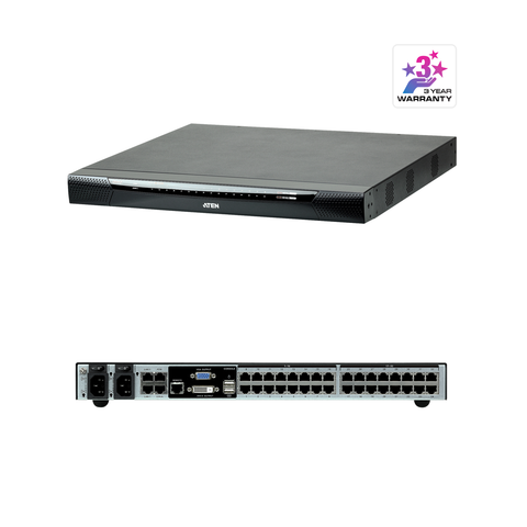 Aten KN1132V | 1-Local/1-Remote Access 32-Port Multi-Interface Cat 5 KVM over IP Switch - Network Warehouse