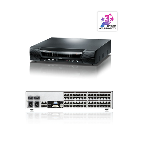 Aten KN8164V | 1-Local/8-Remote Access 64-Port Multi-Interface Cat 5 KVM over IP Switch - Network Warehouse