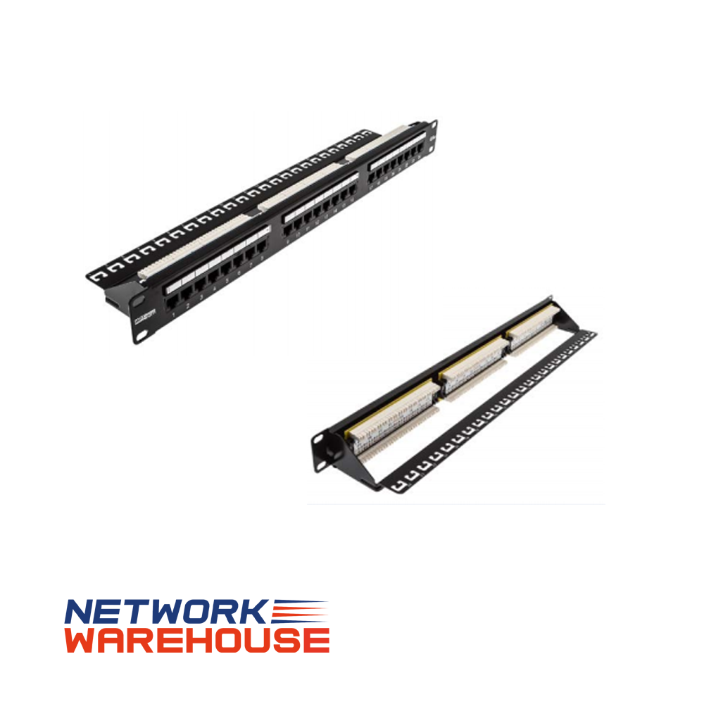 Maxxam 24 Port Cat6 UTP 1U Patch Panel - Network Warehouse