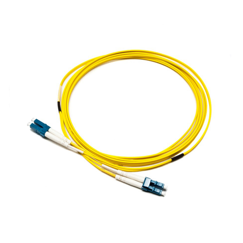 Premium OS2 9/125 LC-LC Duplex Yellow LSOH Fibre Patch Lead - Network Warehouse