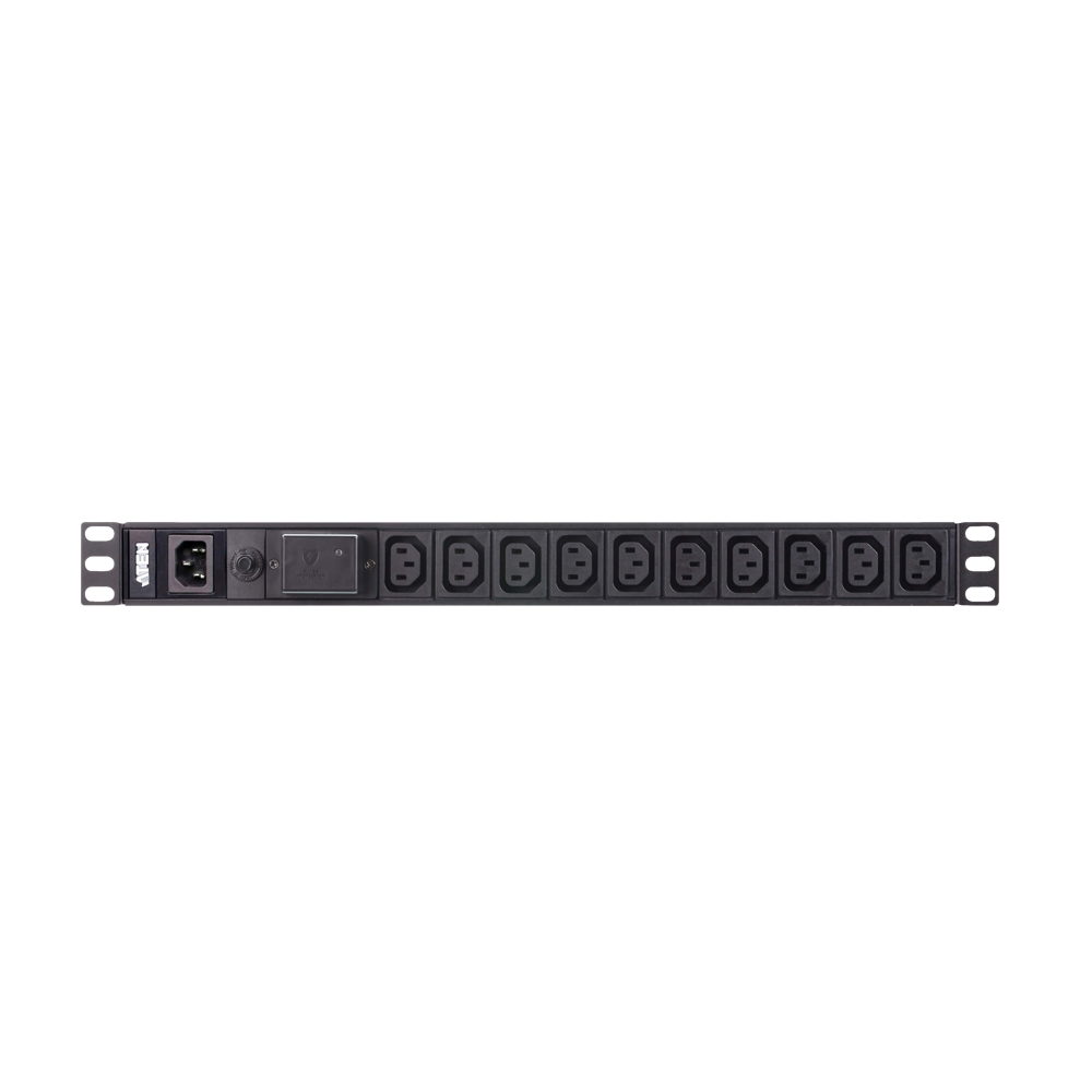 Aten PE0210SG | 12-Port Basic 1U PDU with Surge Protection (16A) - Network Warehouse
