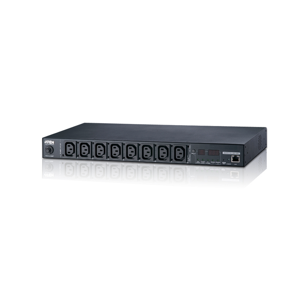 Aten PE5108G | 15A/10A 8-Outlet 1U Metered eco PDU (C13 x 8) - Network Warehouse