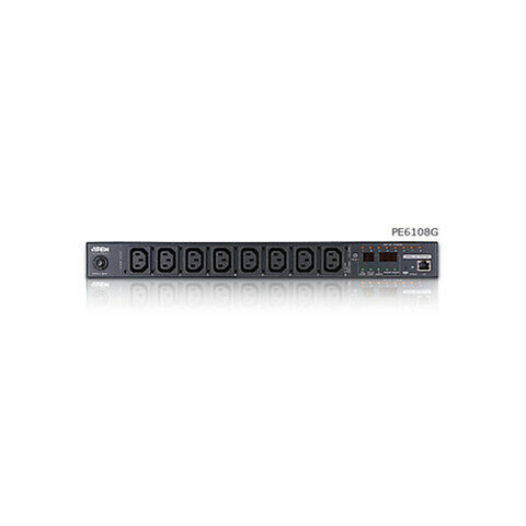 Aten PE8208G | 20A/16A 8-Outlet 1U Outlet-Metered & Switched eco PDU (C13 x 7, C19 x 1) - Network Warehouse