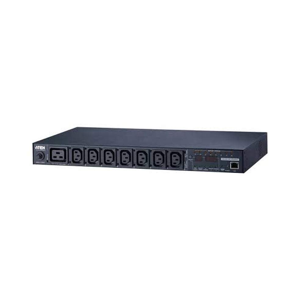 Aten PE6108G | 15A/10A 8-Outlet 1U Metered & Switched eco PDU (C13 x 8) - Network Warehouse