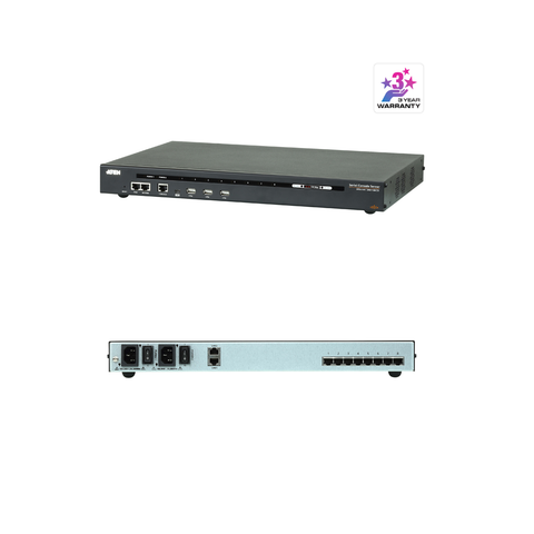 Aten SN0108CO | 8-Port Serial Console Server with Dual Power/LAN - Network Warehouse