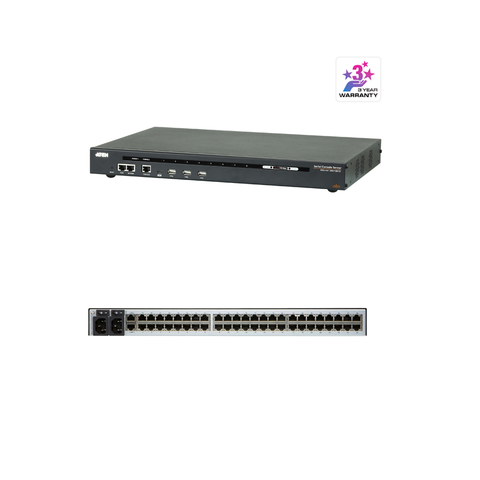 Aten SN0148CO | 48-Port Serial Console Server with Dual Power/LAN - Network Warehouse