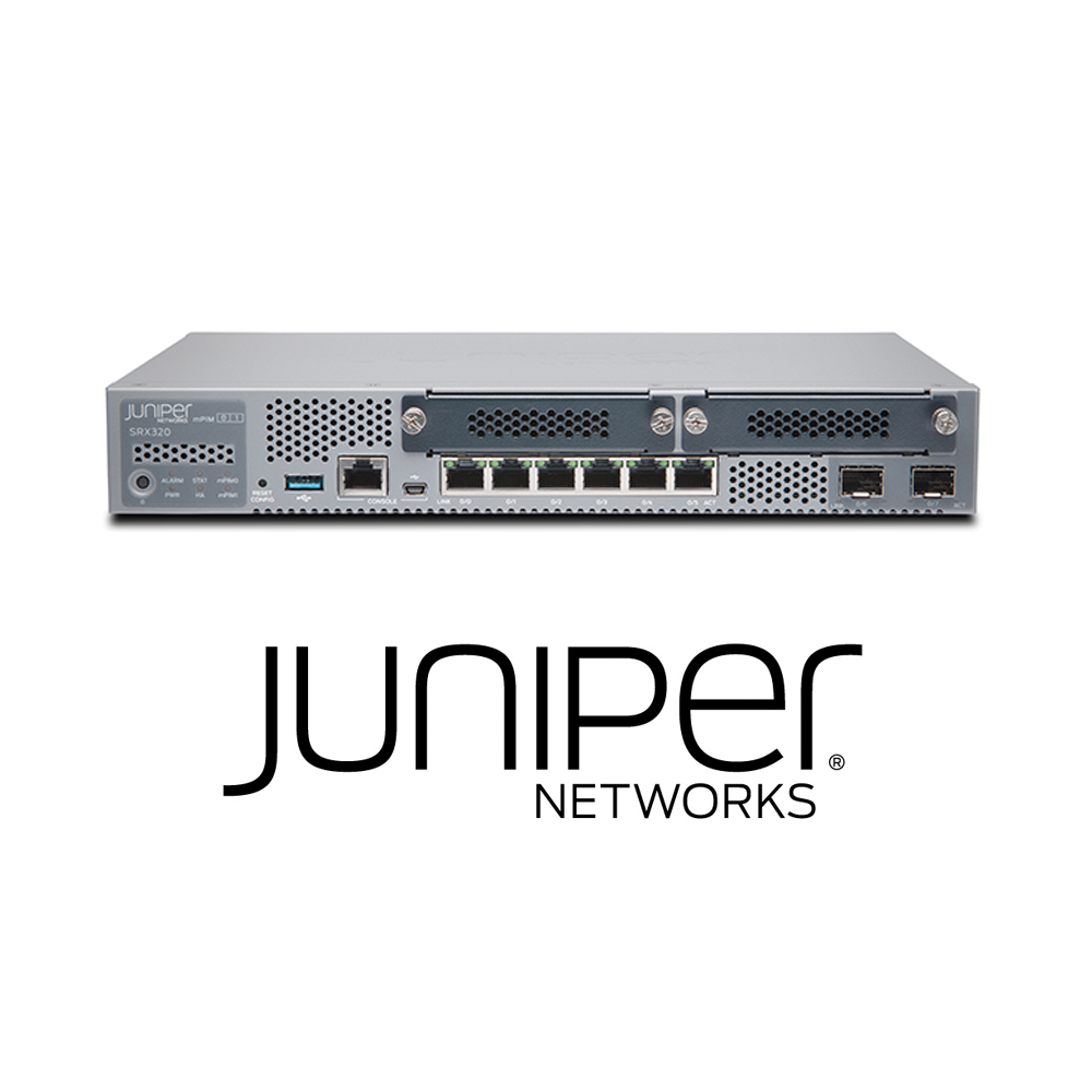 Juniper SRX320-POE Services Gateway | 8 x GE (w 2x SFP), 4G RAM, 8G Flash, 2x MPIM slots and 6x GE POE+ ports (Hardware Only) - Network Warehouse