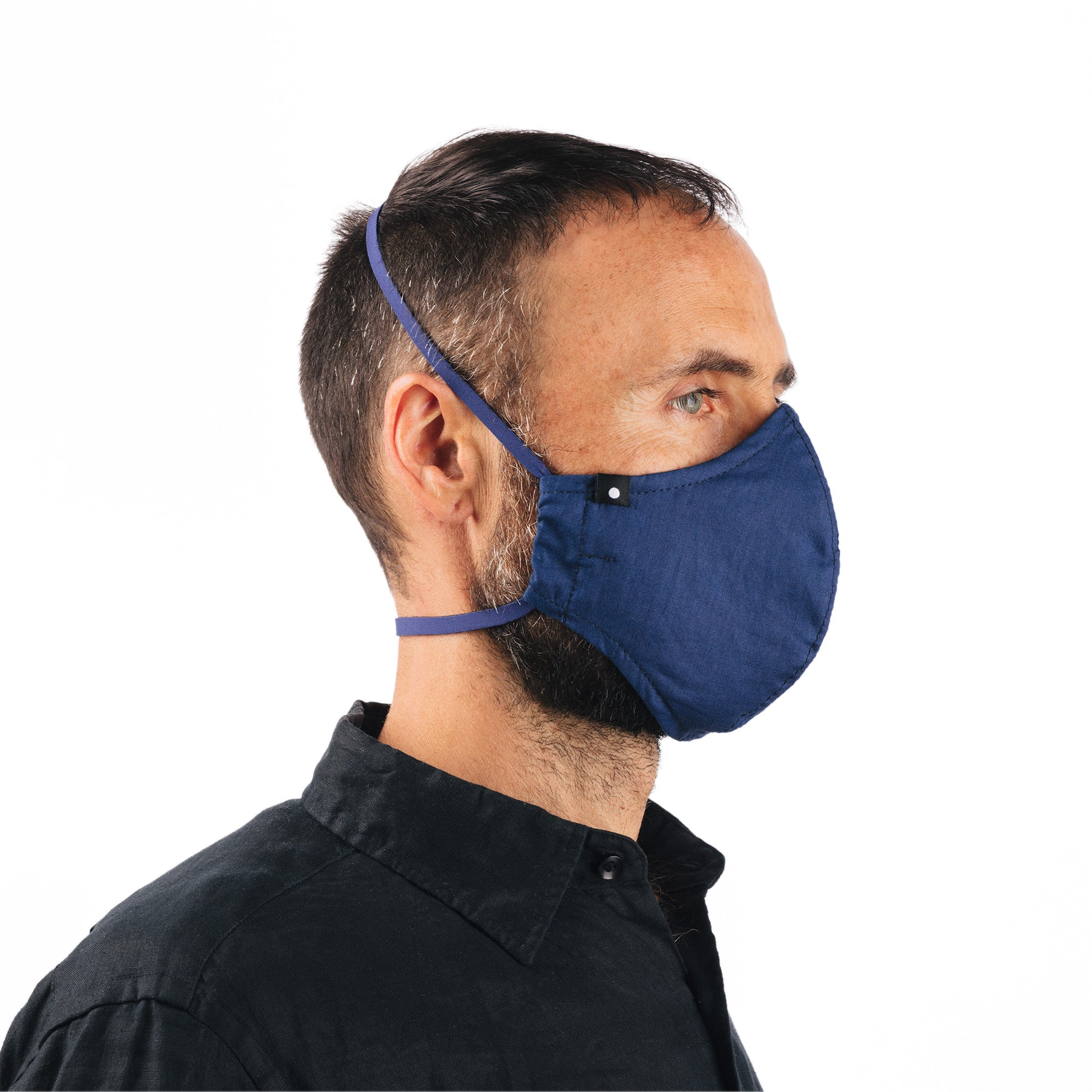 The Curve Mask - Medium Indigo Selvedge  w/Neoprene