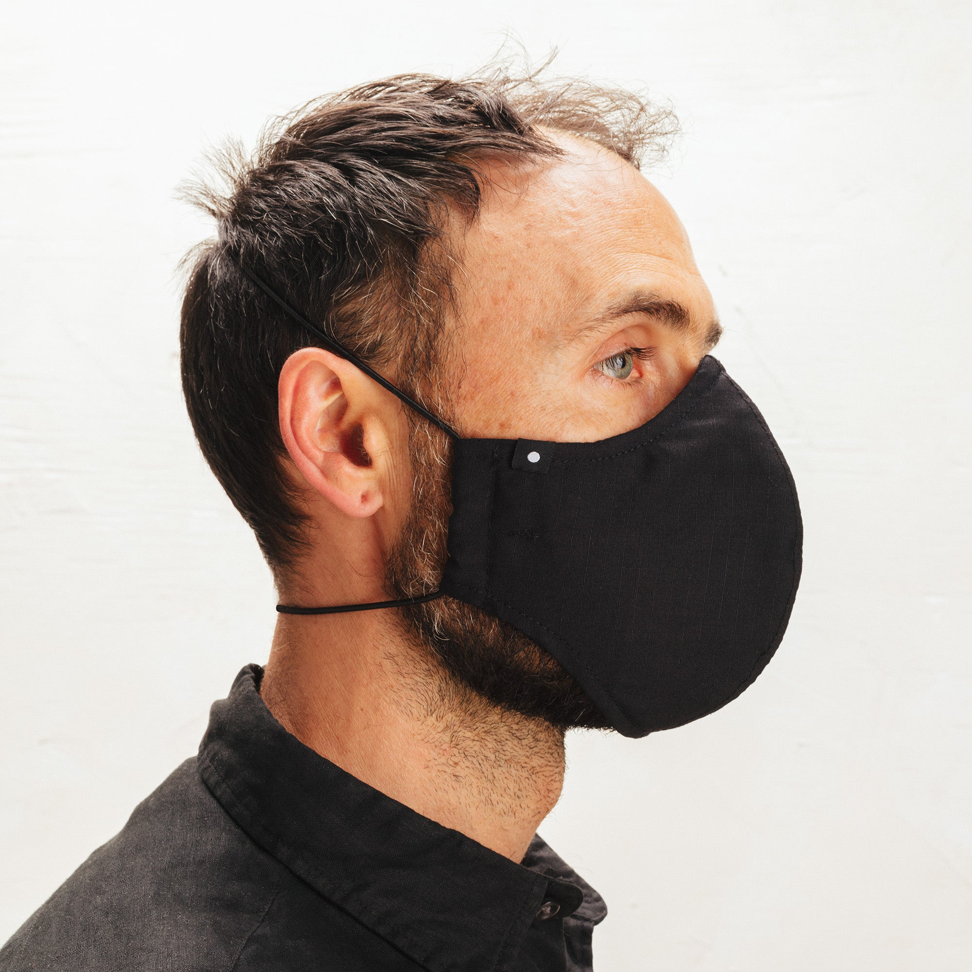 The Curve Mask - Black w/Shock Cord