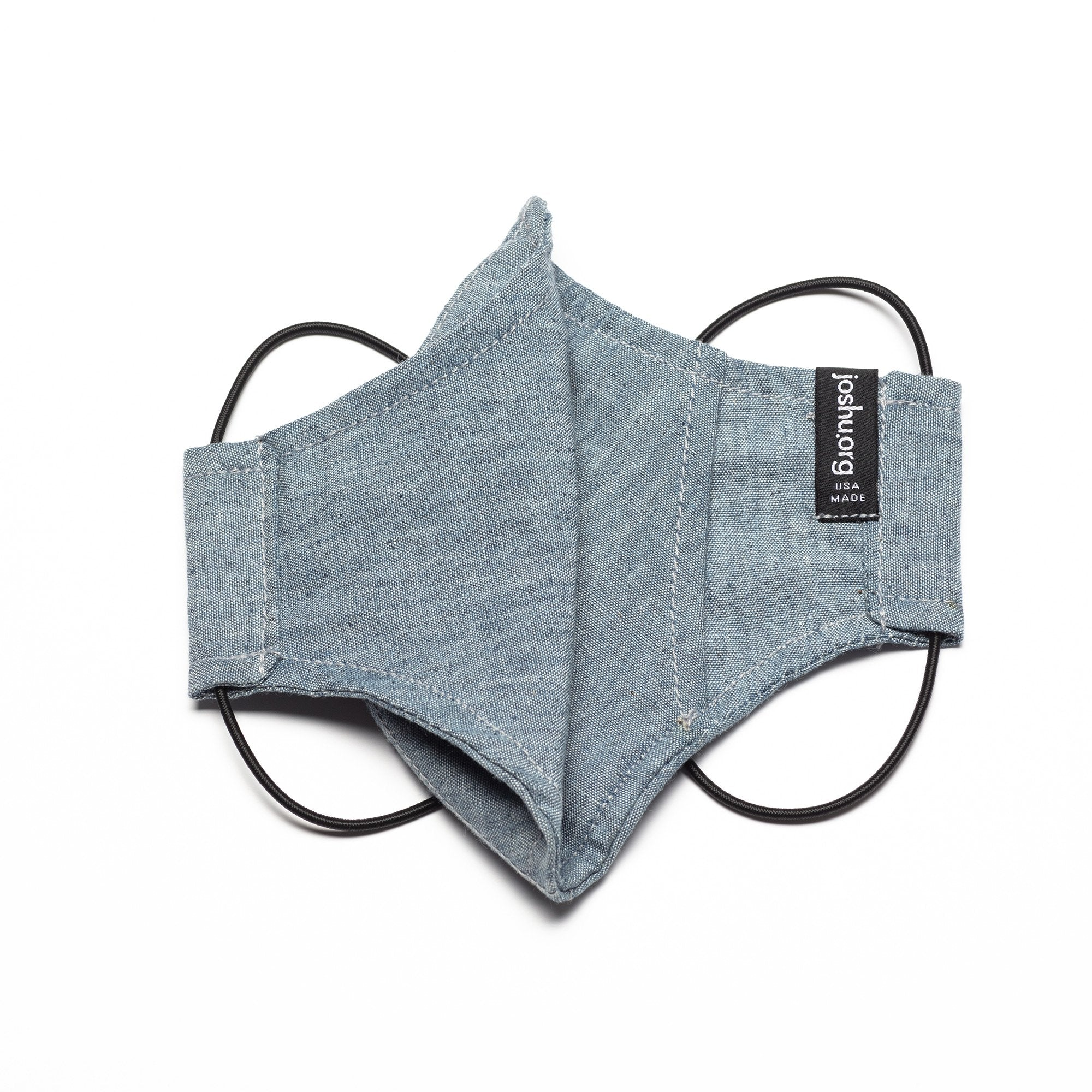 The Curve Mask - Recycled Chambray w/Shock Cord