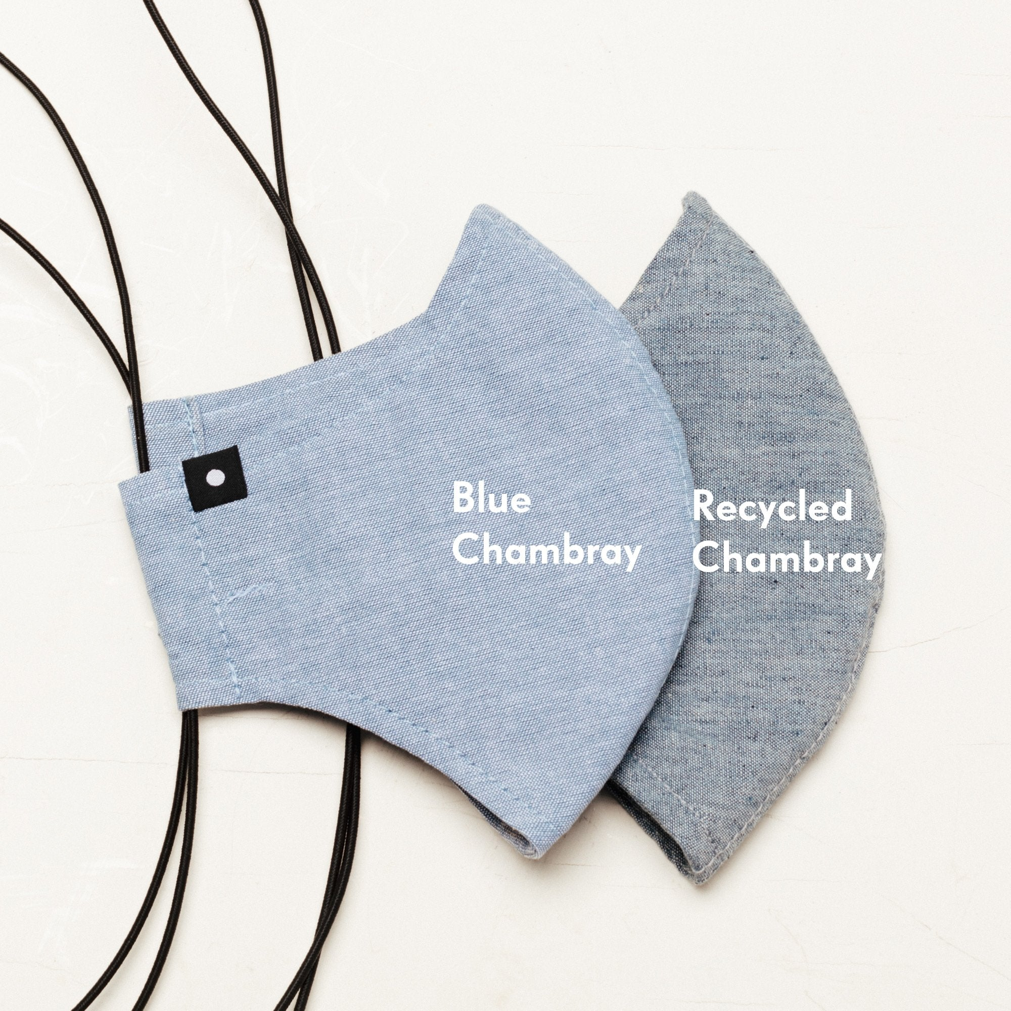 The Curve Mask - Blue Chambray w/ Shock Cord