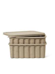 PAPER PULP BOXES SET OF 2
