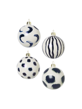 Load image into Gallery viewer, HAND PAINTED TREE DECORATIONS blue
