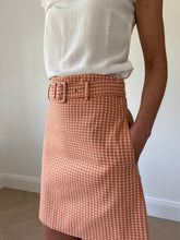 Load image into Gallery viewer, GINGHAM SKIRT/ TERRACOTTA