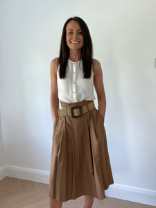 SAFARI CAMEL SKIRT