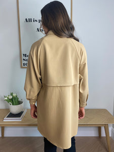 CAMEL TRENCH COAT