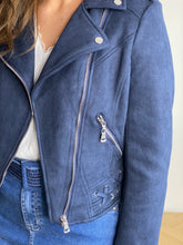 Load image into Gallery viewer, NAVY SUEDE JACKET