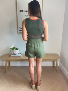 KHAKI SAFARI SHORTS