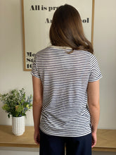 Load image into Gallery viewer, NAVY STRIPE T SHIRT