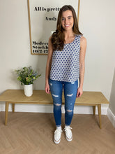 Load image into Gallery viewer, NAVY PRINT TOP