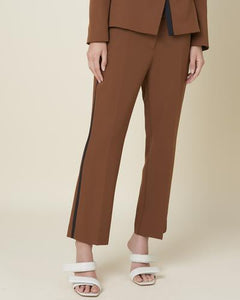 CONTRASTING BAND CAMEL TROUSER