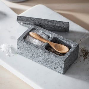 SALT & PEPPER PINCH POT - GRANITE