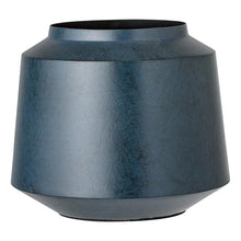 Load image into Gallery viewer, BLUE METAL VASE