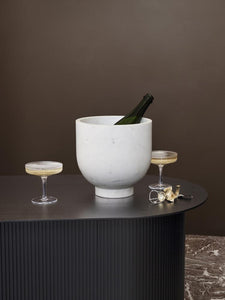 RIPPLE CHAMPAGNE SAUCERS/ SET OF 2
